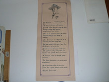A Baden Powell Message Poster, 1982 Printing, 8x20