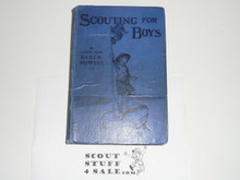 1909 Scouting For Boys, First Edition, Hardbound, Second Printing, A Few Pages Loose, Overall Solid