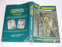 1966 Wild Animals I Have Known, By Ernest Thompson Seton, with dust jacket