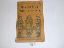 1927 Boy Scout Entertainments, by Lieutenant Clifton Lisle, some spine wear