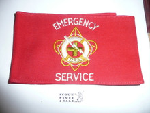 BSA Emergency Service  Armband (White Letters) - Wrap Style
