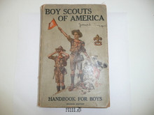 1915 Boy Scout Handbook, Second Edition, Thirteenth Printing, a little spine wear, very nice condition