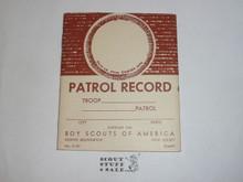 Patrol Record Book, 8-71 Printing
