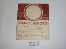 Patrol Record Book, 8-70 Printing