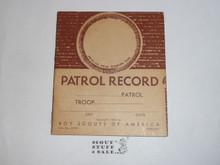 Patrol Record Book, 1-50 Printing