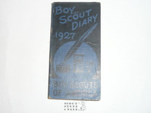 1927 Boy Scout Diary, MINT condition