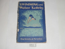 1931 Swimming and Water Safety, Third Edition, 1931 Printing, shows some use