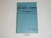 1943 Hints To Squadron Leaders Manual, Air Scout, Proof Edition, January 1943 Printing
