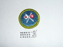 Signaling - Type H - Fully Embroidered Plastic Back Merit Badge (1971-2002)