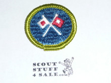 Signaling - Type G - Fully Embroidered Cloth Back Merit Badge (1961-1971)