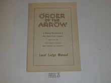 Local Lodge Manual, Order of the Arrow, 6-1946 Printing
