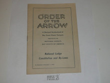 National Lodge Constitution and By-laws, Order of the Arrow, 7-1943 Printing
