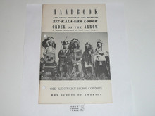 Zit-Kala-Sha Lodge Handbook for Officers and Members, 1955