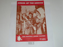 Order of the Arrow Brochure, 1970, 12-70 Printing