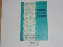 Order of the Arrow Information For New Members, 1970, 11-70 Printing