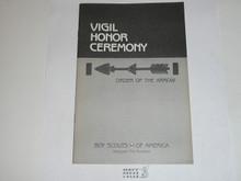 Vigil Ceremony Manual, Order of the Arrow, 1990 Printing