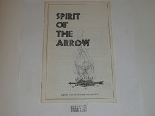 Spirit of the Arrow Book, Order of the Arrow, 1984 printing