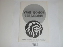 Vigil Ceremony Manual, Order of the Arrow, 1983 Printing