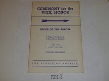 Vigil Ceremony Manual, Order of the Arrow, 1964, 10-64 Printing
