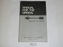 Ordeal Ceremony Manual, Order of the Arrow, 1988 Printing