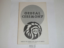 Ordeal Ceremony Manual, Order of the Arrow, 1980, 5-80 Printing
