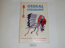Ordeal Ceremony Manual, Order of the Arrow, 1973, 2-73 Printing