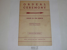 Ordeal Ceremony Manual, Order of the Arrow, 1966, 6-66 Printing, used