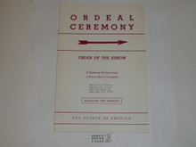 Ordeal Ceremony Manual, Order of the Arrow, 1965, 5-65 Printing