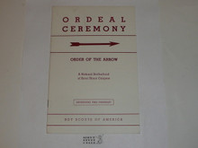 Ordeal Ceremony Manual, Order of the Arrow, 1964, 7-64 Printing