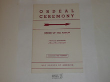 Ordeal Ceremony Manual, Order of the Arrow, 1960, 12-60 Printing