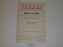 Ordeal Ceremony Manual, Order of the Arrow, 1953, 3-53 Printing
