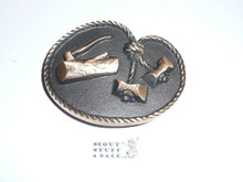 Wood Badge MAX SILBER Belt Buckle