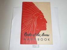 1955 Order of the Arrow Handbook, 3-55 Printing