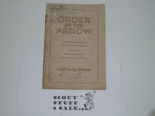 Local Lodge Manual, Order of the Arrow, 11-1946 Printing