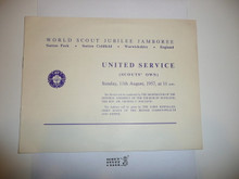 1957 World Jamboree Scouts Own Service Pamphlet