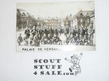 1957 World Jamboree Photo Postcard of USA Troop at Versailles
