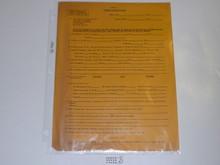 1951 World Jamboree BSA Personnel Information Sheet