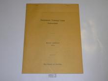 1929 World Jamboree BSA Preliminary Training Camp Instructions