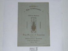 1920 World Jamboree Boy Scouts of America Contingent, Special Edition of the Jamboreeter, Official Bulletin, On Board the Pocahontas, Lists all Contingent Members and Delegation on Board