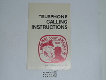 1981 National Jamboree Telephone Calling Instructions