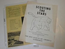 1960 National Jamboree US Air Force Academy Scout Guide for Scouting the Stars and Planetarium Brochure