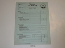 1960 National Jamboree Unit Inspection Form