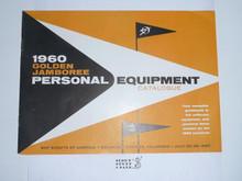 1960 National Jamboree Personal Equipment Catalog