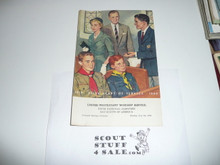 1960 National Jamboree Protestant Worship Service Program