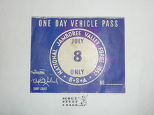 1957 National Jamboree Vehicle Pass, July 8