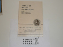 1950 National Jamboree Manual of Policies, Organization, and Promotion