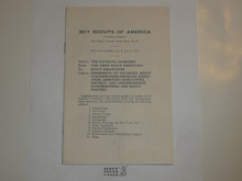 1935 National Jamboree National Office Special Bulletin
