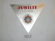 1935 National Jamboree Jubilee Year Triangle Decal