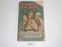1946 Boy Scout Handbook, Fourth Edition, Thirty-ninth Printing, Norman Rockwell Cover, heavy cover spine and page wear