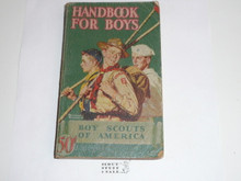 1945 Boy Scout Handbook, Fourth Edition, Thirty-eighth Printing, Norman Rockwell Cover, some wear to cover spine and page edges
